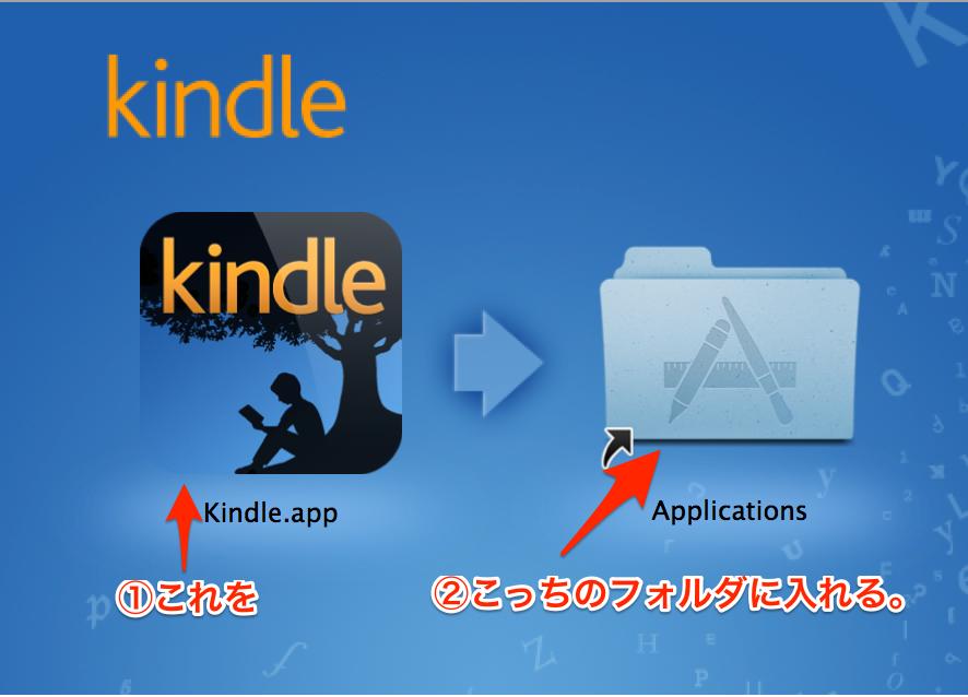 Kindle for Macをインストール①
