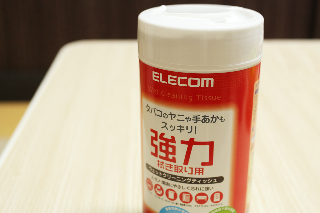 ELECOMのウェットクリーニングティッシュ
